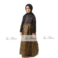 baju gamis COUPLE anak import LNICE 2 3 4 5 6 TAHUN AGD3212