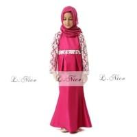 Baju muslim anak mewah dan elegan 1 2 3 4 5 6 TAHUN AGD3248