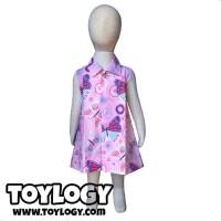 Baju Anak Perempuan Grow Gaun Katun Pinguin Pink / Dress / 1-2 Tahun