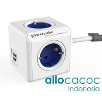 FLASHSALE Allocacoc PowerCube Extended USB BLUE 2.1A USB Fast Charger