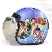 Helm Anak Remaja Full Kulit Printing Doraemon