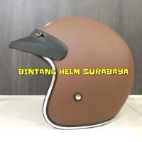 Helm Half Face Bogo JP Bigie Solid Chocolate
