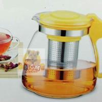 Harga teko kaca 1100ml teko kopi teapot kaca 1100ml saringan | antitipu.com