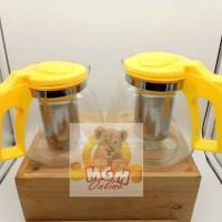 Harga teko kaca 900ml teko kopi teapot kaca 900ml w saringan | antitipu.com