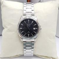 Jam Tangan Wanita Alexandre Christie AC 8502 Silver Plat Hitam Ori