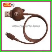 Kabel Charger Lightning Model Brown Line Brown