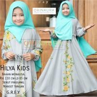Gamis Anak Hilya Kids Ori Naura Ready Grey