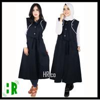 Pakaian wanita vest long outer baju gamis hijab rompi fashion muslim