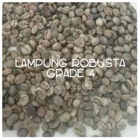 Jual LAMPUNG ROBUSTA GRADE 4 green bean coffee biji kopi mentah Indonesia Murah