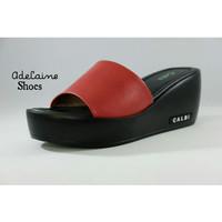 Sandal Wedges wanita casual formal elegan dan trendy by CALBI KL 07