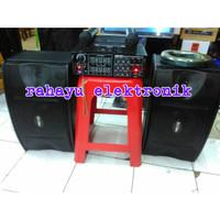 Harga paket karaoke sound system speaker 10 ampli mic | antitipu.com