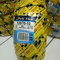 Ban luar swallow deli tire ukuran 120/70-10 sc-103 untuk motor vespa