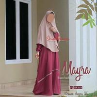 Gamis Mayra Maroon by Shafeeya