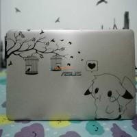 Harga sticker laptop macbook 17 inch custom desain suka suka luar saja   Hargalu.com