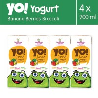 Heavenly Blush Yogurt YO! Banana Berries Broccoli