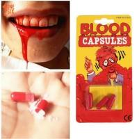 Kapsul Darah Palsu Warna Merah Untuk Halloween