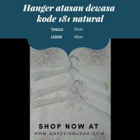 Hanger atasan dewasa kode 181 natural Hanger plastik Murah