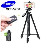 Tripod Yunteng Bluetooth VCT 5208 Standing Hp dan Camera - Original