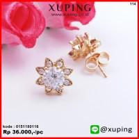 XUPING ANTING TUSUK BUNGA EMAS ZIRCON 0151180116