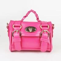 028D28rKnot Handle Handbag Dark Pink