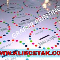 Cetak STIKER/ STICKER A3+ CHROMO GLOSSY HIGH QUALITY