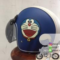 Helm Bogo Kulit Doraemon / Cute / Lucu / Girl / Biru