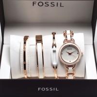 Jam Tangan Wanita Fossil Paket Plus Gelang By HargaJam kado hadiah