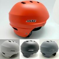 Helm Sepeda Warna Polos Merah Abu Biru Hitam Kuning Merk MXL SK 106