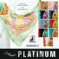 Jilbab Umama Platinum Motif 02 / Hijab Segiempat Paris Europe