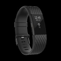 Fitbit Charge 2 Heart Rate GPS Fitness Wristband Smartwatch Gunmetal S