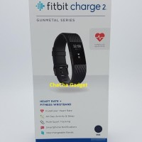 Fitbit Charge 2 Heart Rate GPS Fitness Wristband Smartwatch Gunmetal L