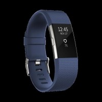 Fitbit Charge 2 Heart Rate GPS Fitness Wristband Smartwatch Blue L