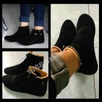 sepatu boot cewek sepatu fashion wanita korea sb090