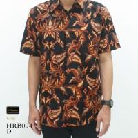 Risna Batik HRB094 Hem Kemeja Batik Pria Lengan Pendek Halus Premium