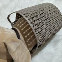Small Size Round Braided Storage Miniso - Keranjang Plastik Kecil