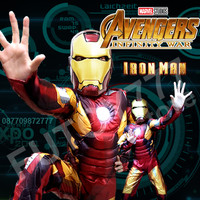 Kostum Baju Iron man Ironman anak laki lelaki cosplay ulang tahun