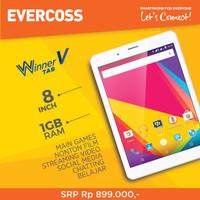 Tablet Evercoss Winner V AT8B Ram 1/8GB Garansi Resmi