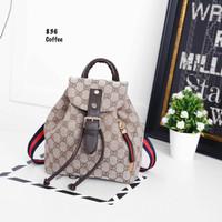 Tas Wanita Tas Gucci Petite Backpack #836 Ransel Cewek Import Replika