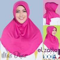Hijab Bergo Instan Jilbab Santai Hijab Pink Murah  Elzatta Hijab E001