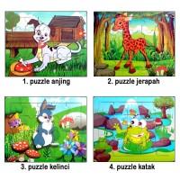Puzzle Kayu Jigsaw Gambar Binatang - Puzle Mainan Edukasi Kayu