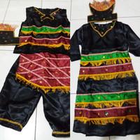 Jual Pakaian baju adat anak baju irian/papua saten anak Lk/Pr uk S-M Murah