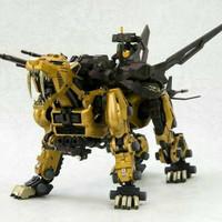 mainan model kit zoid MG saber tiger gold