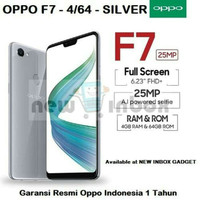 Hp OPPO F7 New (oppo F7 New 4G Lte) Ram 4/64GB - SILVER Edition