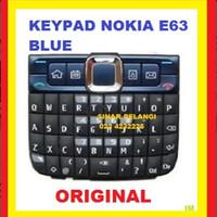 KEYPAD KEYBOARD TOMBOL NOKIA E63 BLUE ORI 701025