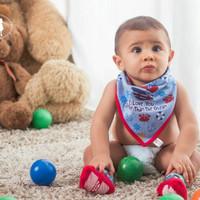 Petite Mimi Triangle Bibs 2pcs | Slabber Bayi | Baby Bibs