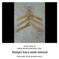 Hanger Kayu Anak Hanger Kayu Natural Hanger Murah Anak Hanger Grosir