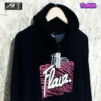 Sweater Flava Black Red Pria / Sweater Flava Pria