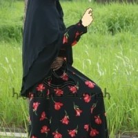 baju gamis syar i bahan wolfis woolpeach busana muslimah dress bagus