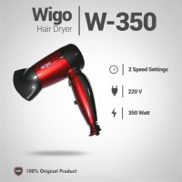 Hair Dryer Mini Lipat Merk Wigo ORIGINAL W-350 Merah