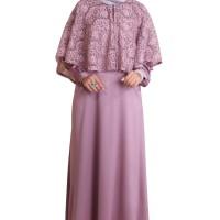 Rocella Dress Humaira - Dusty Pink | Gamis Polos Maxmara Berkualitas